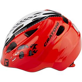 Cratoni Akino Helmet Kids rennauto rot glanz